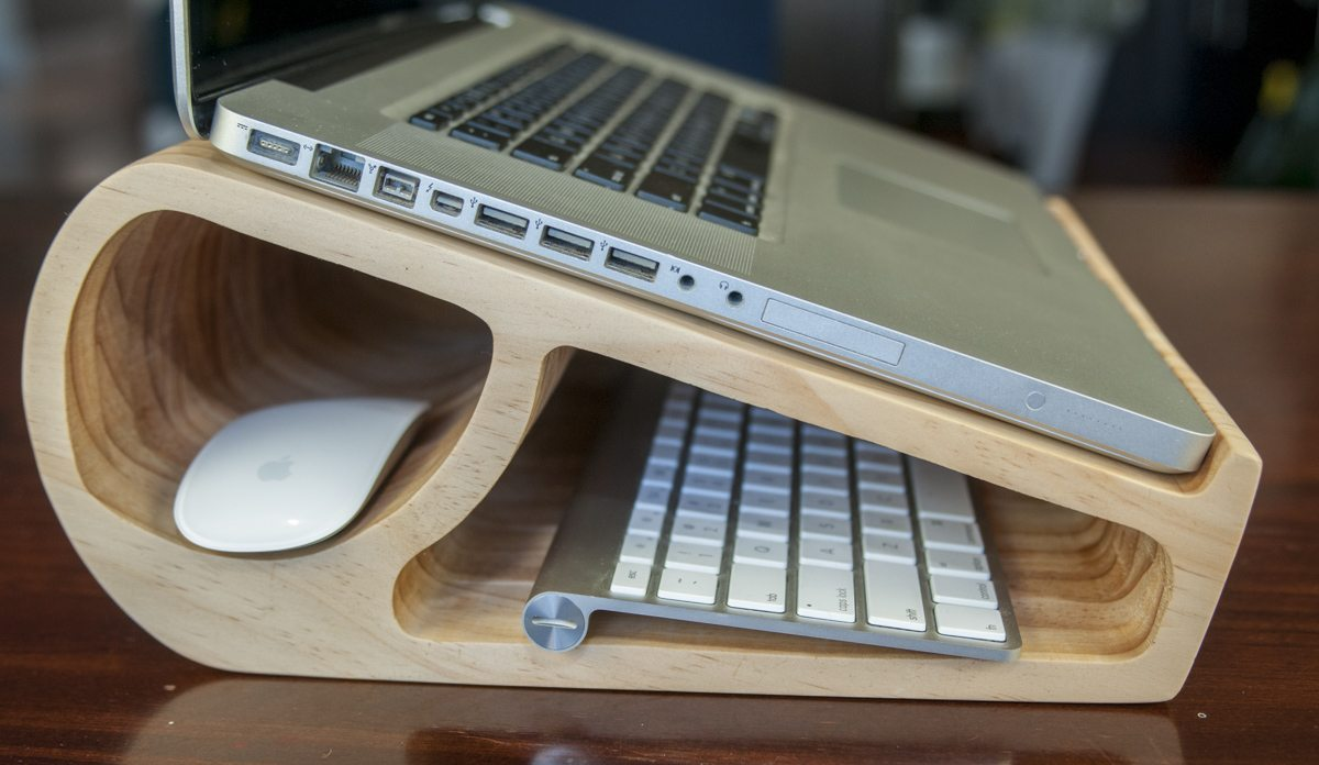 modern wood laptop stand