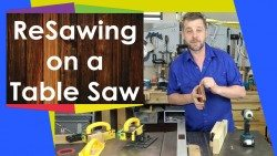 Resawing on a table saw with a Microjig Grr-Ripper