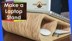 make a wooden laptop stand