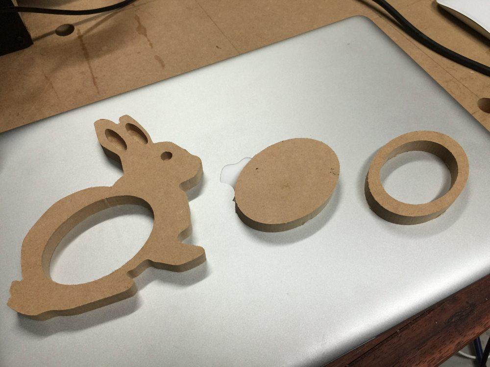 CNC cut project parts