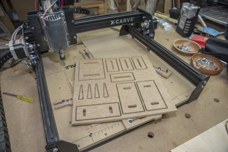 X Carve cnc with hold down clamps