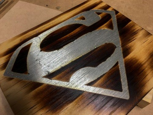 Woodworking using solder inlay