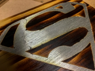 Use solder as inlay in woodworking
