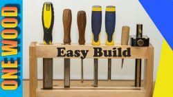 Woodworking for beginners project - Chisel Rack