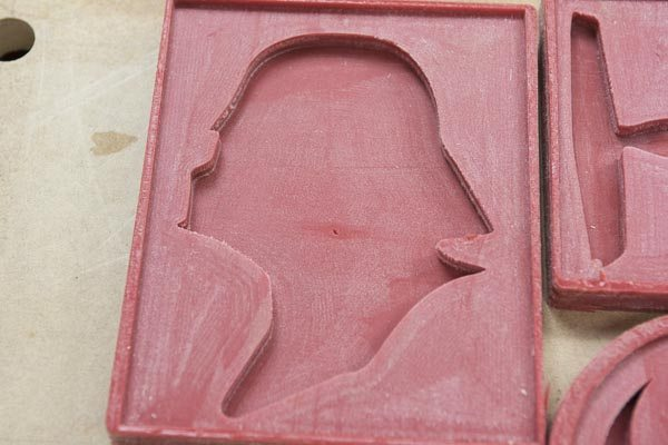 DIY darth vader silicone chocolate mould