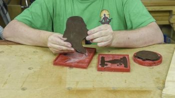 removing darthvader chocolate from mould