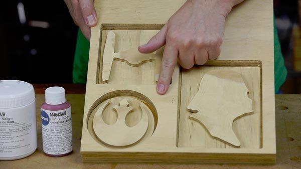 X carve CNC Star Wars cut out